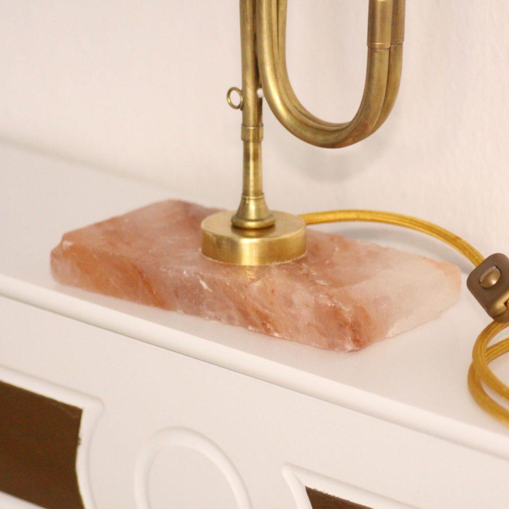 Trompetenlampe Hornlampe Design Vintage Handarbeit Glasschirm