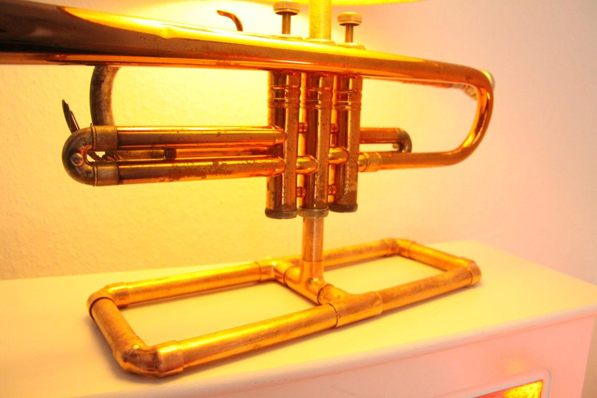 Trompete Lampe Kupfer Vintage #013