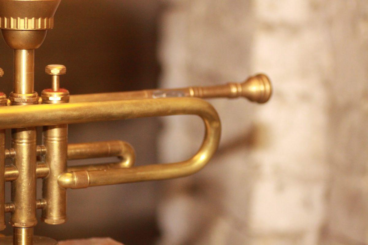 Trumpet Lamp Design Vintage Handmade Glas Lampshade