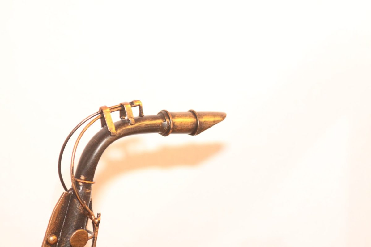 Lampe Saxophon Design Handarbeit Mundstück