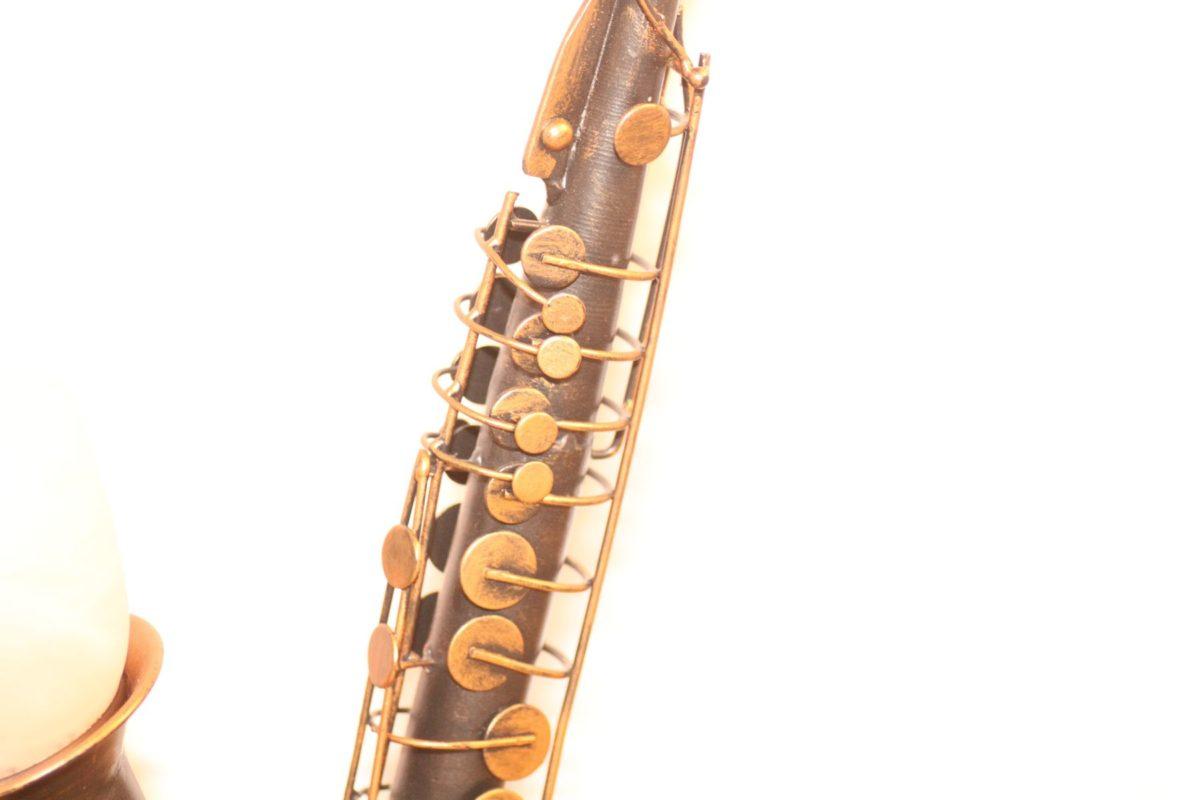 Lampe Saxophon Design Vintage Handarbeit