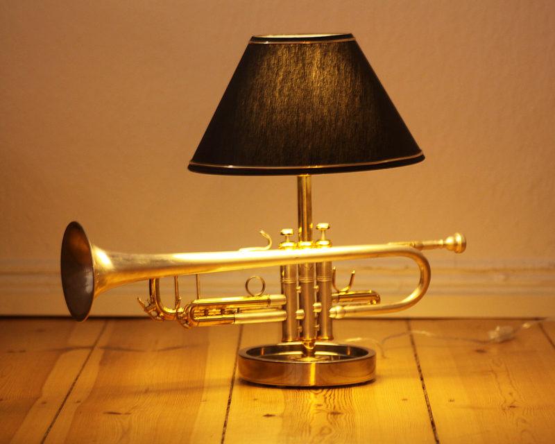 Trompetenlampe Design Tischlampe Vintage Einzelstück