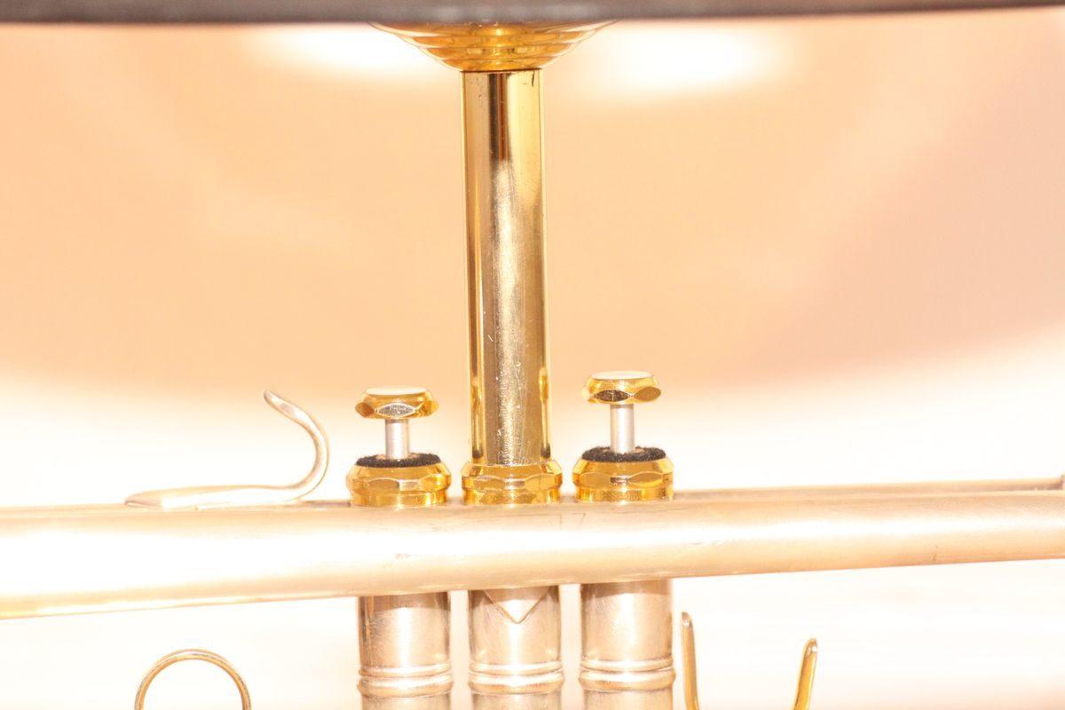 Trompetenlampe Design Tischlampe Vintage Einzelstück #07