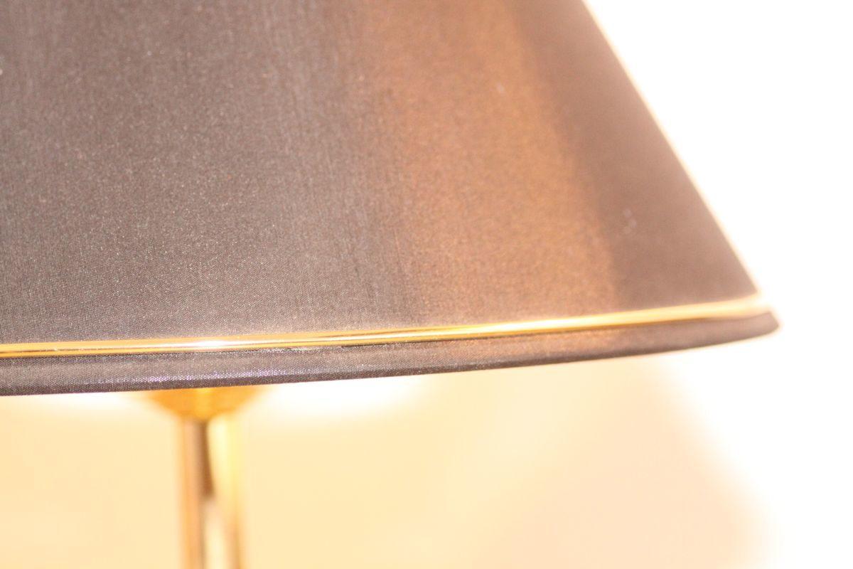 Trompetenlampe Tischlampe Schirm schwarz