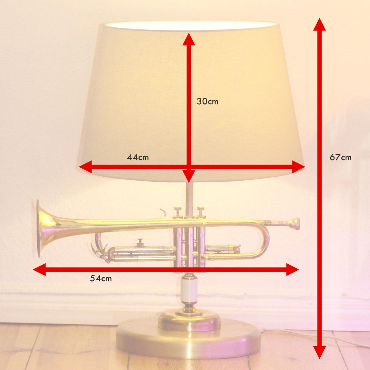 Trompetenlampe Stehlampe Vintage Retro Einzelstück Masse