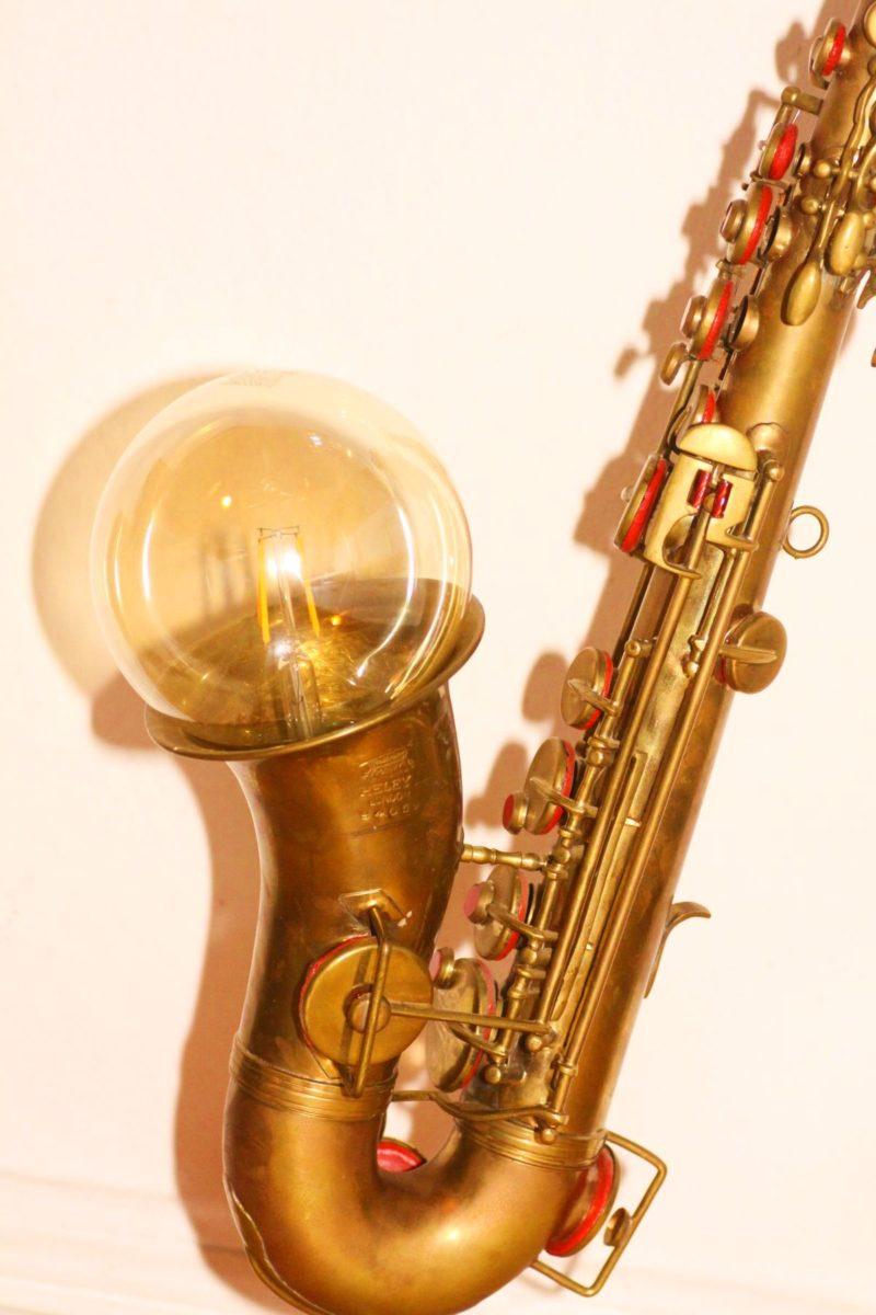 Saxophone lamp brick design unique handwork Berlin 24 04