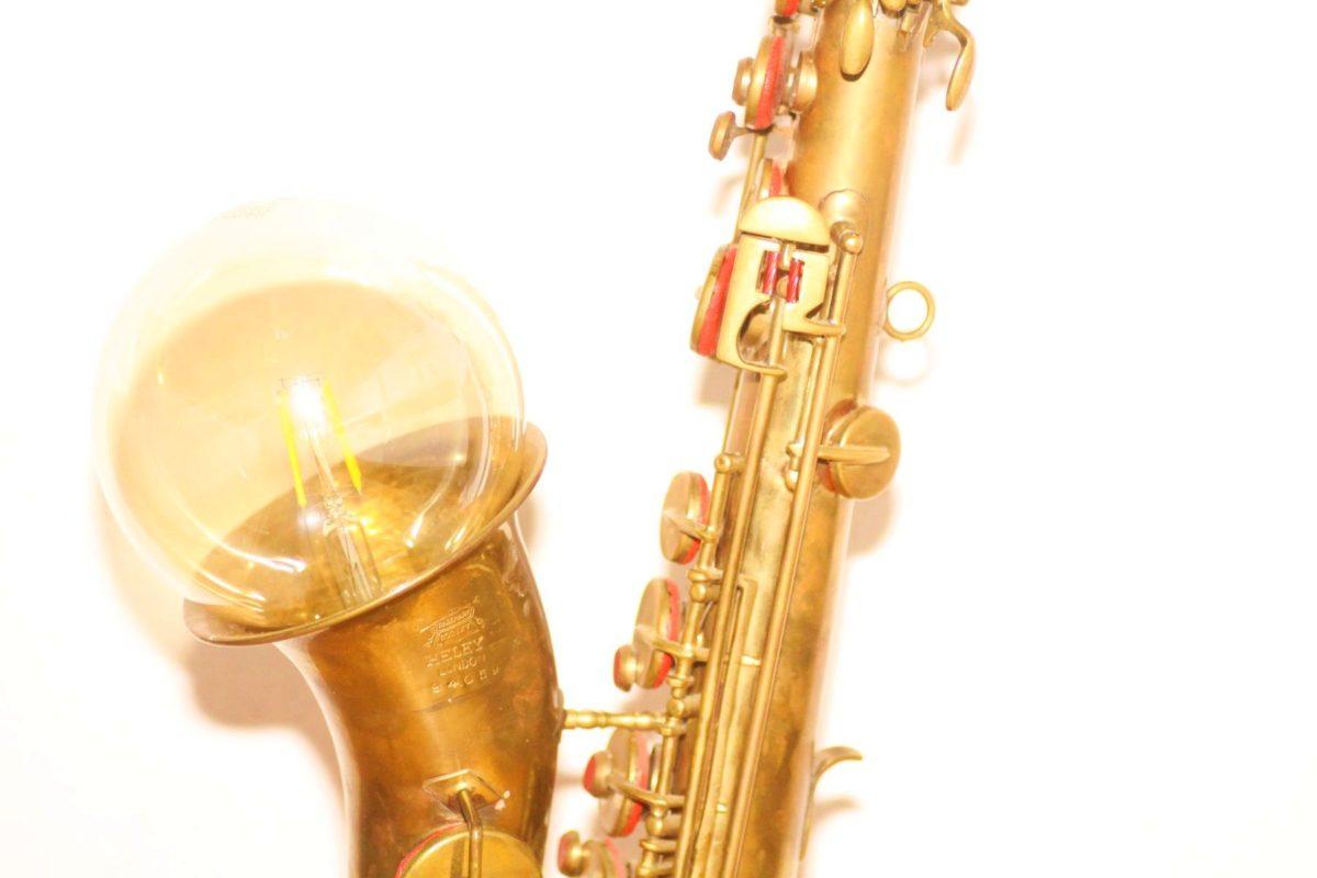 Saxophone lamp brick design unique handwork Berlin 24 05