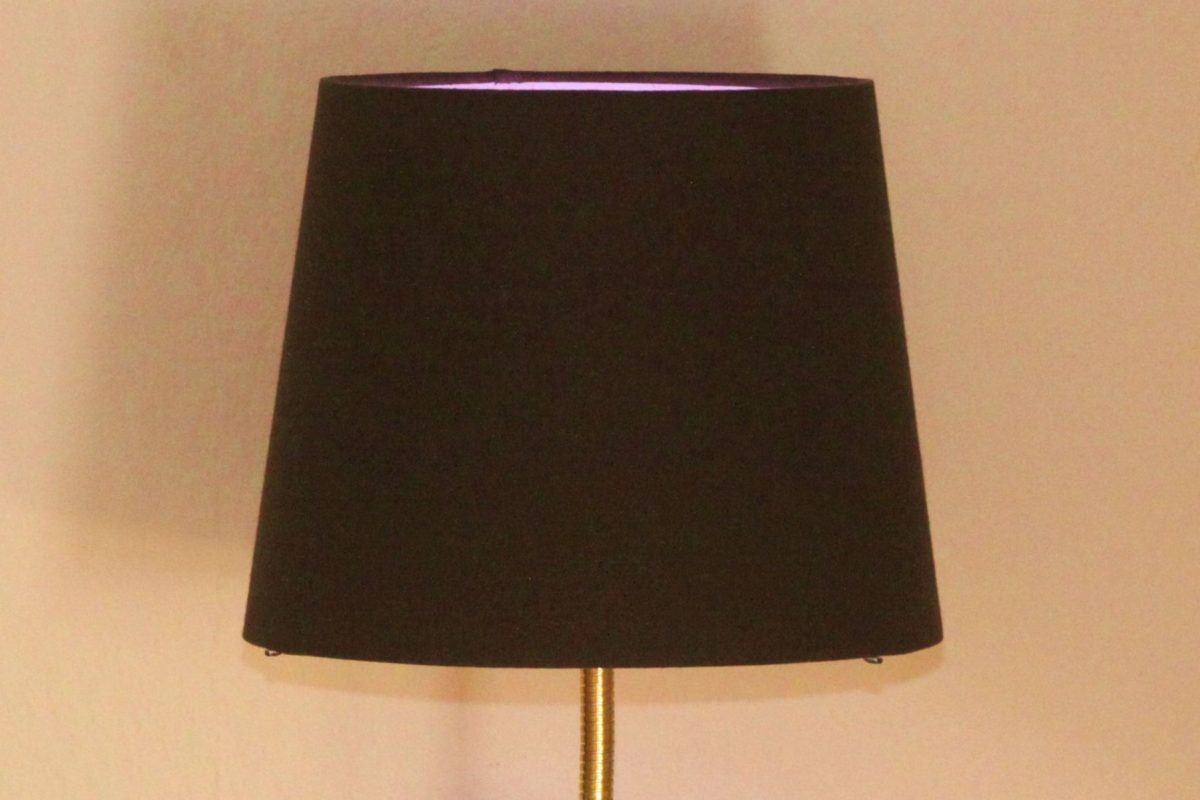 Trumpet Lamp Horn Lamp Wooden Slice Black Gold Handwork LED RGB Remote Control 34B