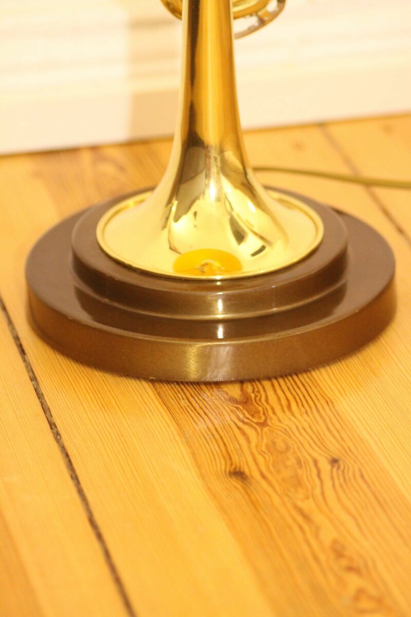 Trumpet lamp floor lamp gold beige brown vintage handmade 37_08