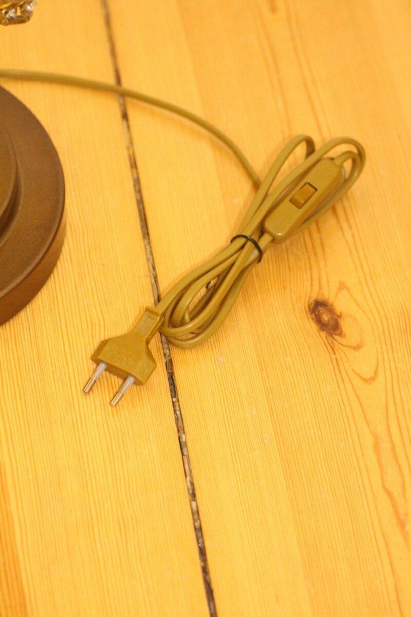 Trumpet lamp floor lamp gold beige brown vintage handmade 37_09