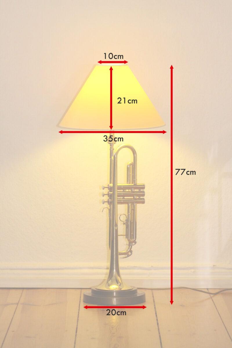 Trumpet lamp floor lamp gold beige brown vintage handmade 37_10