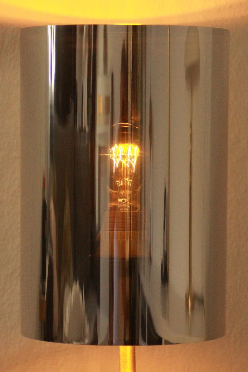 Trumpet Lamp Floor Lamp Silver Black Edison Light Bulb Sustainable